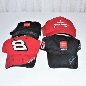 NASCAR Racing 4 Autographed Collectible Hats Caps
